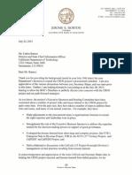 Jerome Horton letter to Carlos Ramos