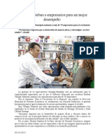 30.10.2013 Comunicado Capacita Esteban a Empresarios Para Un Mejor Desempeño
