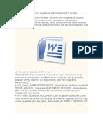 Funciones Basicas de Microsoft Word