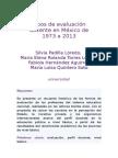Tipos de Evaluación Docente en México de 1973 a 2013