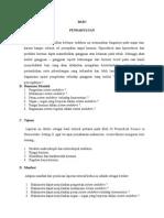 contoh laporan tutorial
