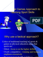 Tactical Approach to games for understanding