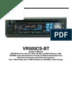 VRC500 Car Radio Manual