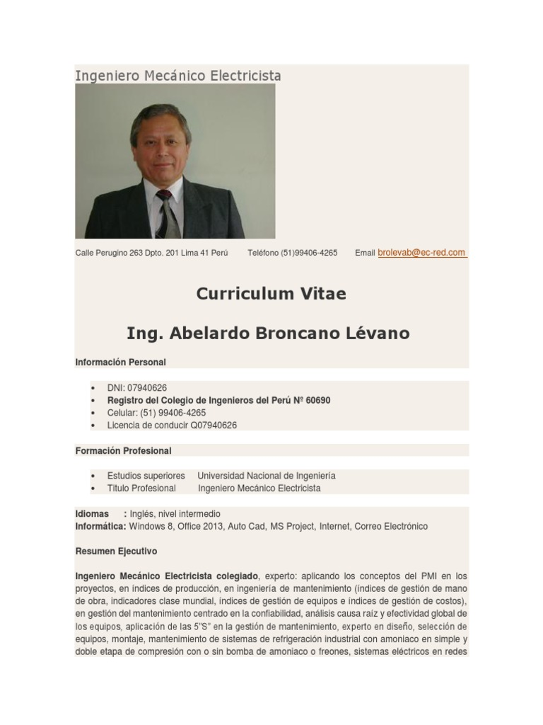 Lujo Ejemplo De Currículum Técnico De Reparación De Computadoras ...