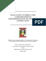 MEVALUACIÓN NUMÉRICA DEL COMPORTAMIENTO SISMORRESISTENTE DE EDIFICIOS APORTICADOS