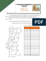 Distritos Portugal Ficha de Trabalho