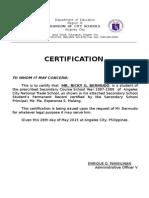 CAV Certification
