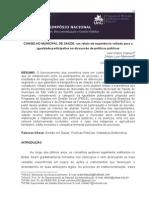 Anais Do i Simpósio Nacional Sobre Estado, Descentralização e Gestão Pública