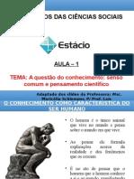 Aula 1 Fund. Ciencias Sociais Maricelia 2014