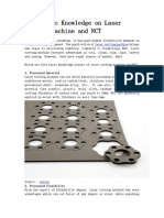 Some Basic Knowledge on Laser Cutting Machine and NCT