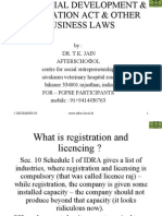 Industrial Development & Regulation Act & Other Business Laws
