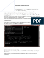 How To Reset TippingPoint IPS Password