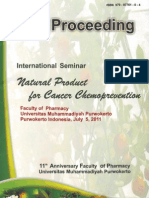 Proceeding Internatioan Seminar on Natural Product for Cancer Chemoprevention