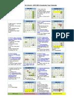 2015-2016 academic year calendar