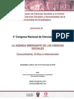 Convocatoria 5 Congreso Nacional de Ciencias Sociales COMECSO1