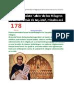 A - Milagros de Santo Tomás de Aquino