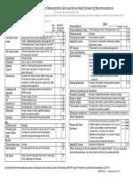 Health Screening Checklist