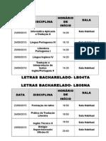 Letras Bacharelado
