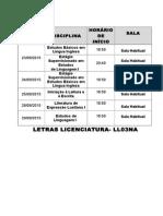Letras Licenciatura
