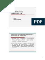 Arqui Compu(Clase1)Vision General