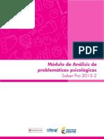 Guia de Orientacion Modulo de Analisis de Problematicas Psicologicas Saber Pro 2015 2