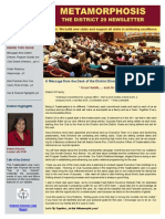 District Newsletter Publication Inaugural