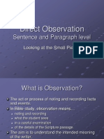 HRM Observation