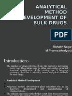 Analytical method development of bulk drugs
