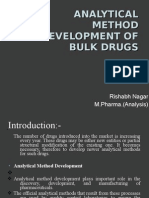 Analytical method development of bulk drugs