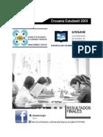 Informe Encuesta Estudiantil 09