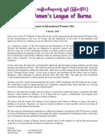 WLB Press Release on International Women's Day English