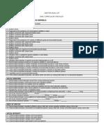 Auditon Goal List Dasl