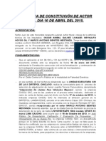 Audiencia de Constitucion de Actor Civil Dia 10 de Abril Del 2015