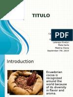 Ecuadorian cocoa export analysis