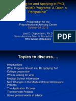 Joel Oppenheim Presentation (Fall 2012)