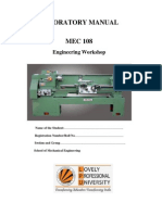 Lab manual of 1st year mechanical workshop