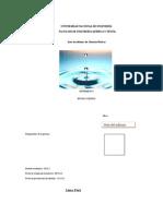 Informe #8 de Laboratorio de Química