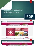 Kuesioner Website Bukalapak