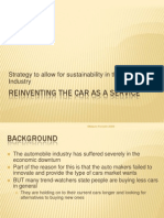 Reinventing the Car as a Service - Summary