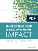 Investing for Social and Env Impact Monitor Institute