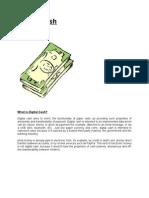 Digital Cash (Anonymous Online Payment Scheme)