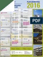 Calendario UNAM 2016