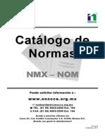 Catalogo Normas concreto NMX