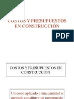 Costos y Presupuestos en Construcción.ppt