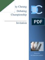 Dorothy Cheung Debating Championship Invitation