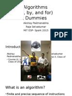 Algorithms (OBF) Dummies_SPARK