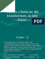 casos clinicos de trastornos acido base