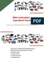 Bible Icebreakers - SuperBowl Teams