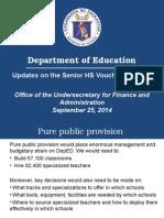3 SHS Voucher Updates Presentation to CEAP Sept 25, 2014 FIN