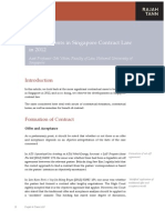 Developments in Contract Law 2013 Singapore